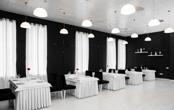 Черно- белый зал - фото №4