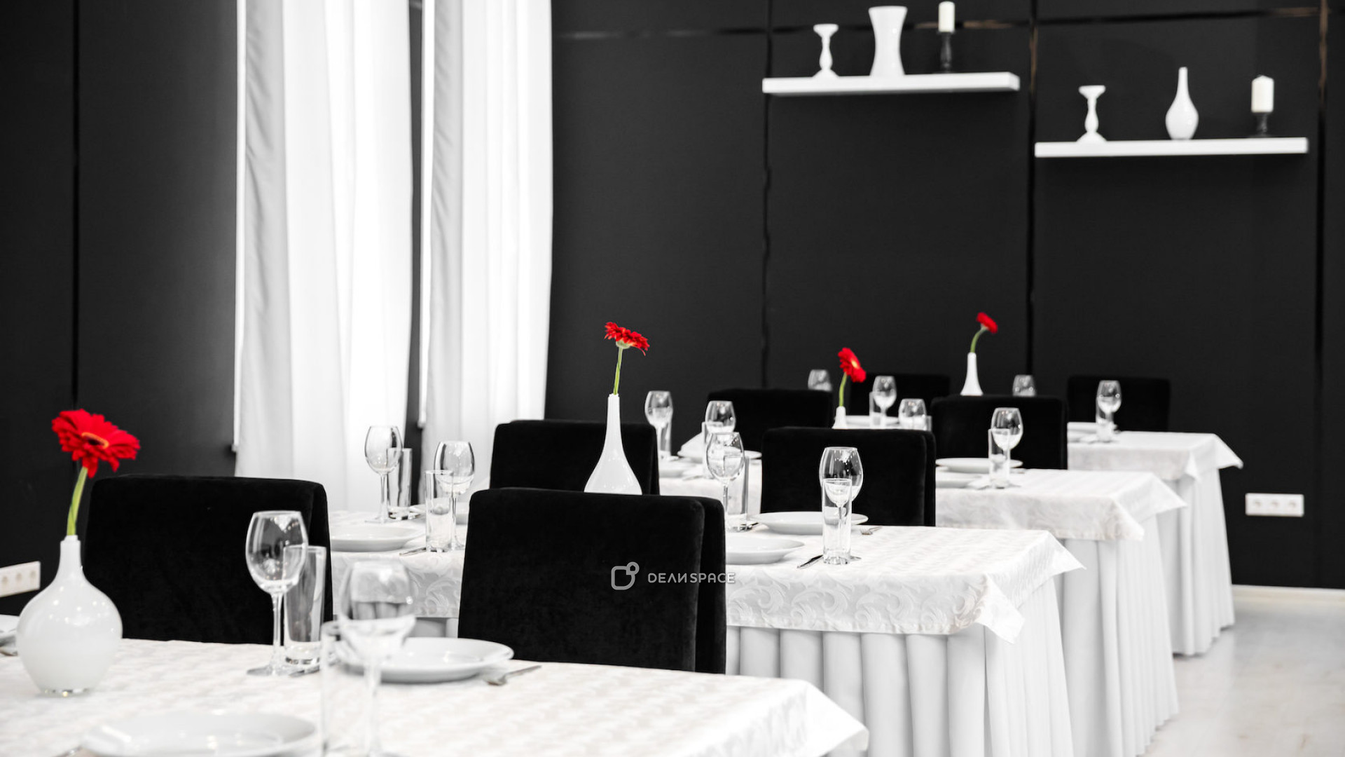 Черно- белый зал - фото №5